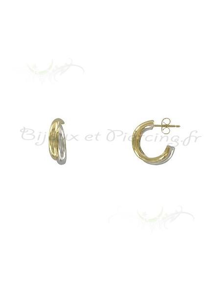 anneaux créoles bicolores