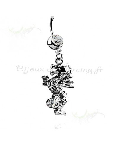 Banane de nombril pendante dragon strass
