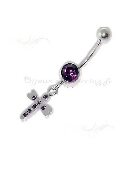 Croix bijoux de nombril