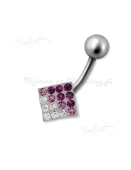 Piercing cristal glamour et coloré