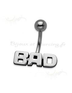 Bijoux de nombril - piercing acier BAD