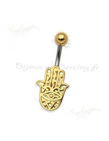 Bijoux main de fatima - piercing nombril