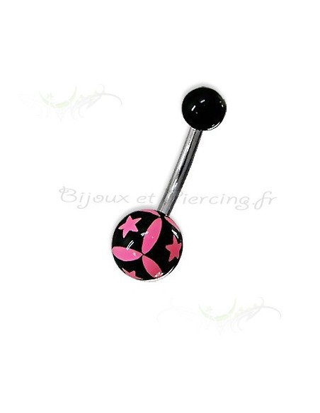 Piercing de nombril acrylique fluo