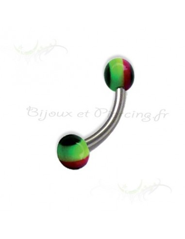 Piercing arcade Stripe Jamaican Ball