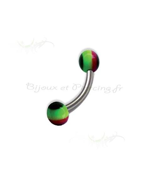 Piercing arcade Stripe Jamaican Ball