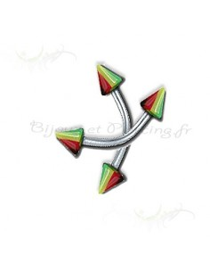 Piercing arcade pointes multicolores