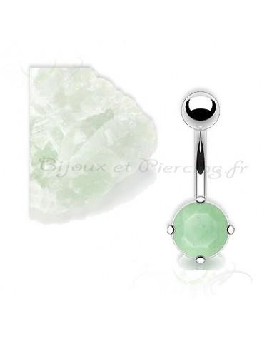 Piercing jade vert clair - nombril