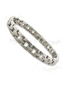 Bracelet homme acier avec gravures