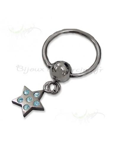 Piercing anneaux étoile du ciel