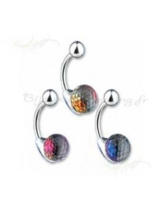 Piercing nombril boule de cristal