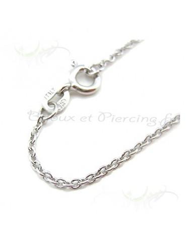Chaines ou collier argenté de 37 cm