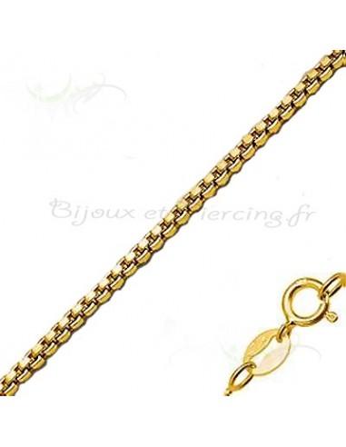 Chaine plaqué or maille vénitienne de 45 cm