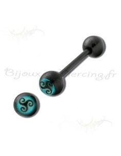 Barbell langue motif celtique