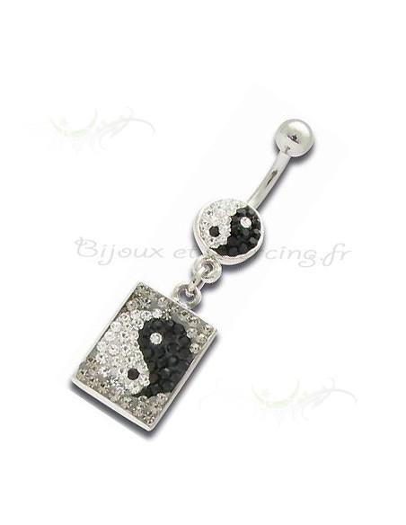 Bijoux pendentif ying et yang