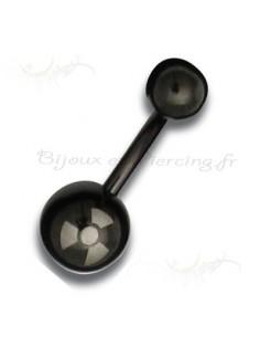 Piercing nombril blacksteel - radiaoctif