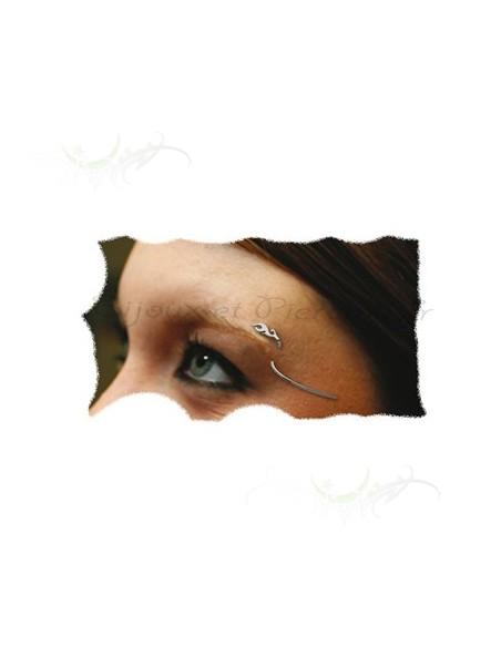 Piercing Arcade Courbe bijou ornée d'une salamandre