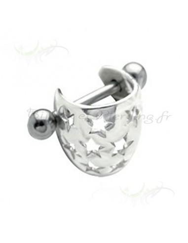 Piercing pour l'oreille et le cartilage en argent