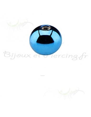 Boule acier anodisé pour tige de piercing en 1.6mm
