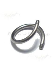 Micro spirale acier nue - accessoire pour element piercing 1.2 mm