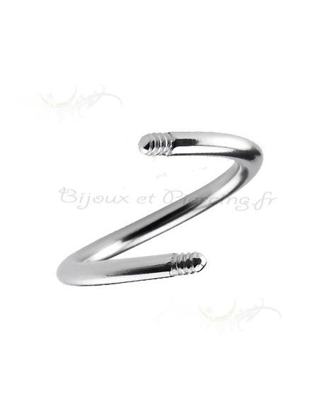 Micro spirale titane - element de piercing