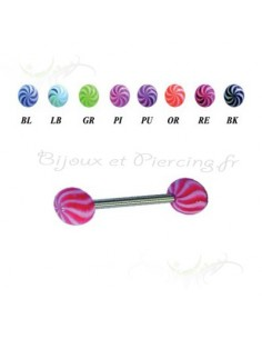 Piercing langue acrylique bille UV