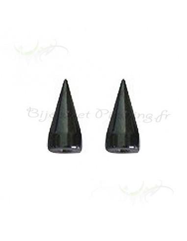 pointe long spyke acier noir - element de piercing