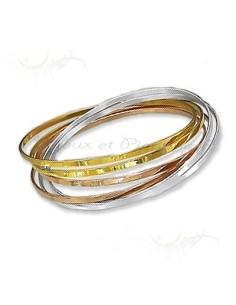 Bracelet femme - six anneaux lisses colorés