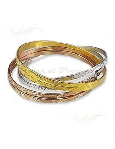 Bracelet rigide femme 6 anneaux