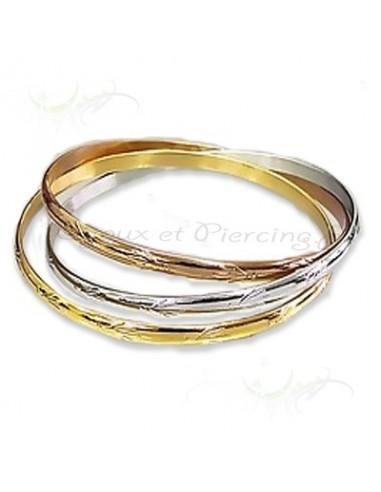 Bracelet tricolore en acier pour femme