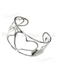 Bracelet femme acier ouvert