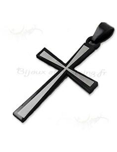 Pendentif crucifix noir