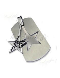 Bijou plaque armée acier trouée par une étoile