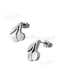 Boucles d'oreilles - cerises d'acier