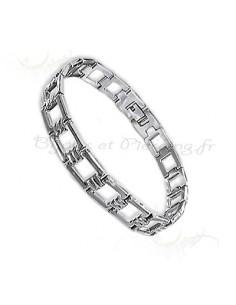 Bijoux gourmette homme - bracelet acier