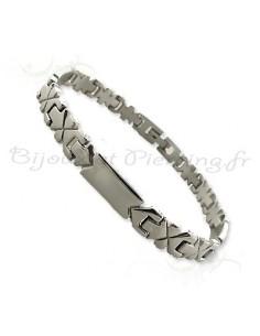 Bracelet acier petite largeur - bijoux homme