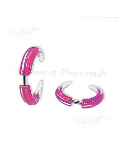 Faux piercing rose translucide