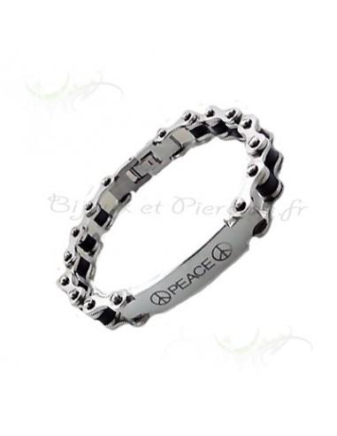 Bracelet acier homme Peace
