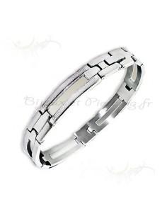 Bracelet acier Homme - style grec