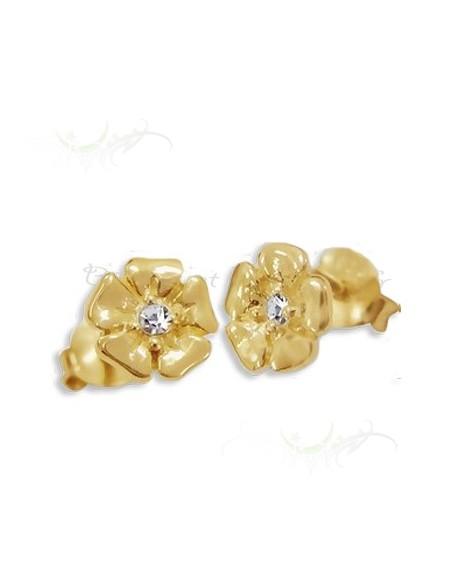 Boucles d'oreilles pétales d'or