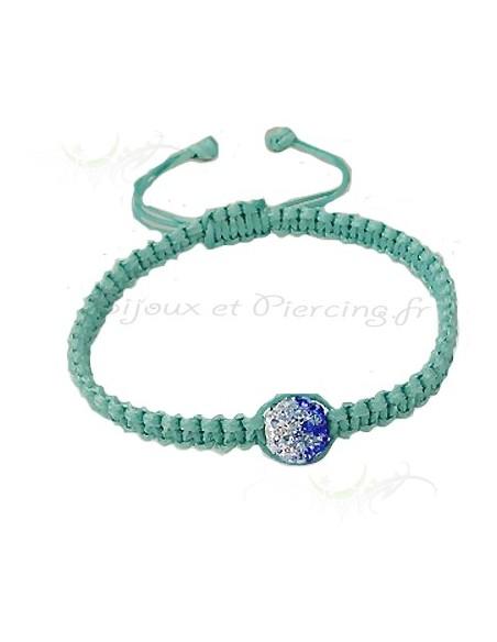 Bracelet Shamballa cristal Zwarovski bicolore