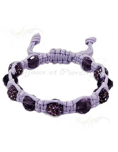 Bracelet Shamballa strass et paillettes