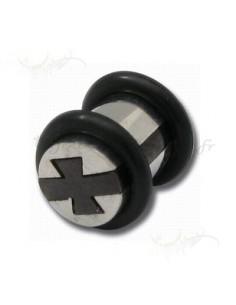 Bijou plug acier puzzle