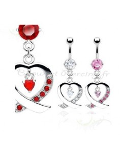 PIercing pendentif avec motif coeur