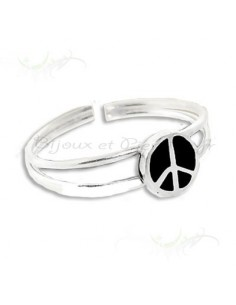 Bague de pied - orteil design peace and love