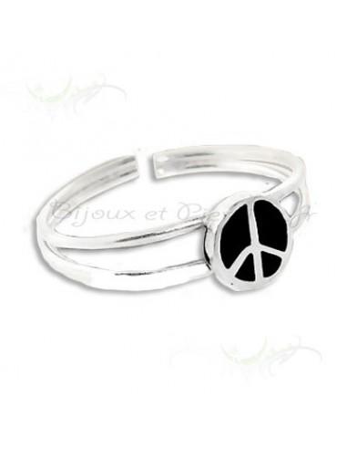 Bague de pied - orteil design peace and love