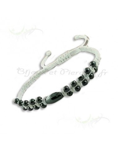 Bracelet amitié - Perles Hématite