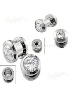 Plug acier chirurgical cristal