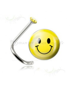 Piercing de nez smiley