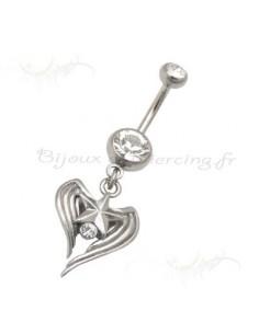 Bijoux en ligne - piercing pendentif - coeur