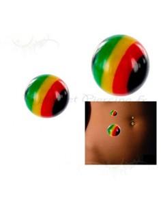 Accessoire de piercing 1.6 - bille Rasta